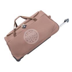 Tmavě béžová cestovní taška na kolečkách GERARD PASQUIER Miretto, 91 l