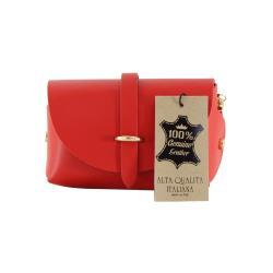 Červené kožené psaníčko Chicca Borse Loira