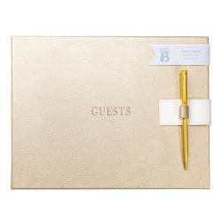 Kniha hostů ve zlaté barvě Busy B