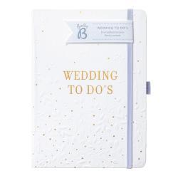Bílý svatební zápisník Busy B To Do