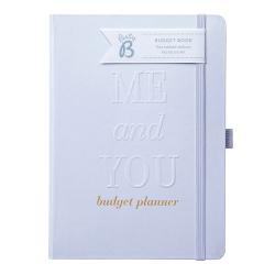 Zápisník ve stříbrné barvě na svatební rozpočet Busy B