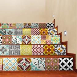 Sada 2 samolepek na schody Ambiance Mosaic, 15 x 105 cm