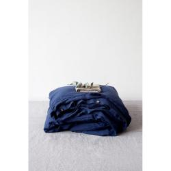 Námořnicky modrý lněný povlak na peřinu Linen Tales, 140 x 200 cm
