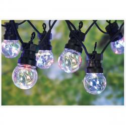 Venkovní řetěz s 10 žárovkami Remi, 50 barevných LED