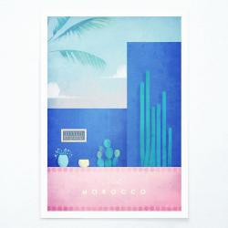 Plakát Travelposter Morocco, A3