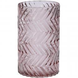 Svícen Romanesca růžová, 12 x 20 cm
