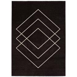 Tmavě hnědý koberec Universal Breda, 190 x 280 cm