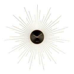 Nástěnné hodiny v černo-zlaté barvě Karlsson Peony,ø95cm