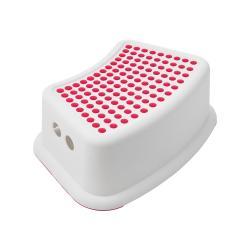 Bílá stolička s růžovými detaily Addis Booster Step
