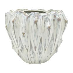 Slonovinově bílý keramický květináč PT LIVING Flora, ø 16,5 cm