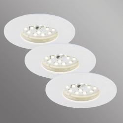 Briloner Sada 3 Felia LED podhledové svítidlo IP44, bílé