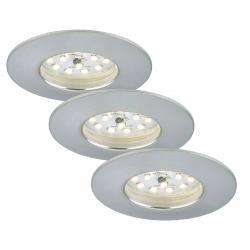 Briloner Sada 3 Felia LED podhledové svítidlo IP44 hliník