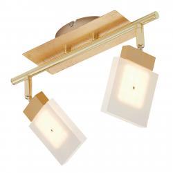 Briloner LED stropní svítidlo Glam zlaté, 2zdrojové