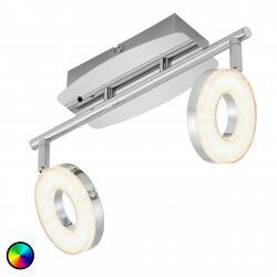 Briloner Dvouzdrojové stropní světlo Zara s RGBW LED