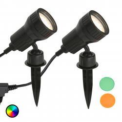 Briloner Sada 2 - LED zapichovací reflektor Terra, filtry