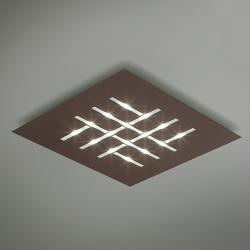 BRAGA Pattern - čtvercové LED stropní svítidlo, hnědé