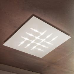 BRAGA Pattern - čtvercové LED stropní svítidlo, bílé