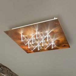 BRAGA LED stropní svítidlo Cristalli 50x50 cm rezavé