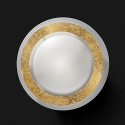 BRAGA LED stropní svítidlo Disco ve zlatě
