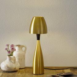 BELID Mosazně zbarvená stolní lampa LED Anemon 38,9 cm