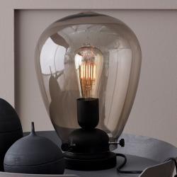 BELID Stolní lampa Dolores černá základna, kouřové sklo
