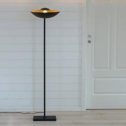By Rydéns By Rydéns Captain Uplight stojací lampa černozlatá