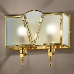 Cremasco Nástěnné světlo Classic 2zdrojové zlaté