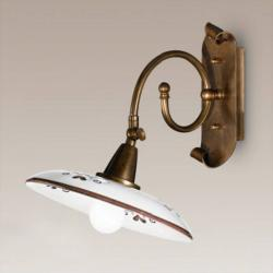Cremasco Nástěnné světlo Bassano, detaily hnědé
