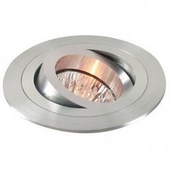 Deko-Light Výklopné podhledové kruhové svítidlo, matný hliník