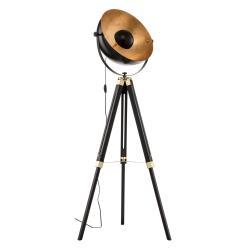 EGLO Stojací lampa Covaleda s trojnožkou černá/zlatá