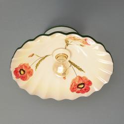 Eurokeramic Stropní světlo Papaveri z keramiky