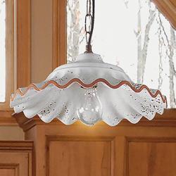 Eurokeramic Závěsné světlo Tarlo, keramické stínidlo