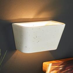 Eurokeramic Hranaté nástěnné světlo Patricia z keramiky