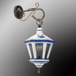Eurokeramic Nástěnné světlo Viola s lucernou z keramiky