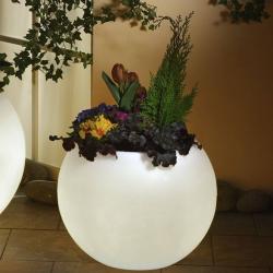 Epstein Svítící květináč, nejvyšší kvalita bílý 50