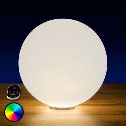 Epstein RGB LED koule Snowball venkovní s baterií, 40 cm
