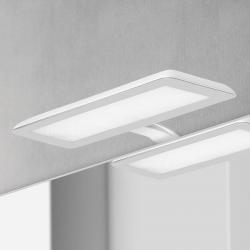 Ebir LED svítidlo nad zrcadlo Nikita, bílá/ocelová šedá
