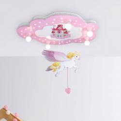 Elobra Dětské stropní svítidlo Zámek s jednorožcem