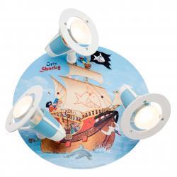 Elobra Dětské stropní svítidlo Kapitán Žralok