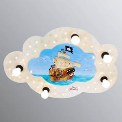 Elobra Stropní LED svítidlo Kapitán Žralok ve tvaru mraku