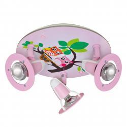 Elobra Dětské stropní svítidlo Sova, růžová