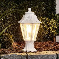 Fumagalli Bílé sloupkové LED svítidlo Mikrolot Anna E27