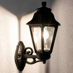 Fumagalli Černé venkovní LED svítidlo Bisso Anna E27, horní