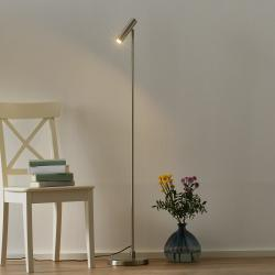 Freelight Stojací LED lampa Arletta, ocel