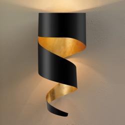 Gibas Nástěnné světlo Remi černozlatá