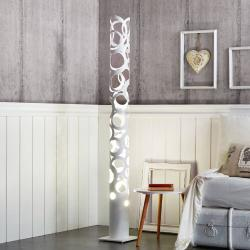 Gibas Bílá designová stojací lampa Thor