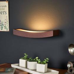 Gibas LED nástěnné světlo Dolce rezavé, šířka 30 cm