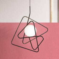 Gibas Rafinované designové závěsné světlo Inciucio černé