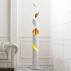 Gibas Stojací lampa Remi bílá-zlato