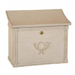 Heibi Poštovní schránka MERITO bílá/zlatá patina
